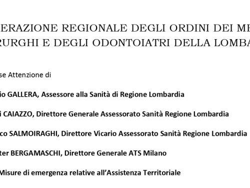Comunicato del FROMCeO Lombardia